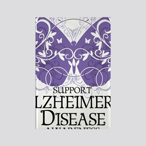 Alzheimers-Butterfly Rectangle Magnet