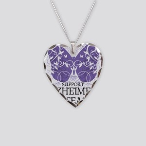 Alzheimers-Butterfly Necklace Heart Charm
