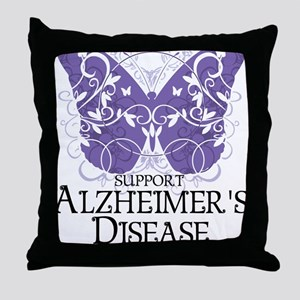 Alzheimers-Butterfly Throw Pillow