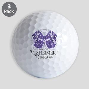 Alzheimers-Butterfly Golf Balls
