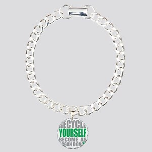 Recycle-Yourself-Organ-D Charm Bracelet, One Charm