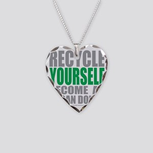 Recycle-Yourself-Organ-Donor Necklace Heart Charm