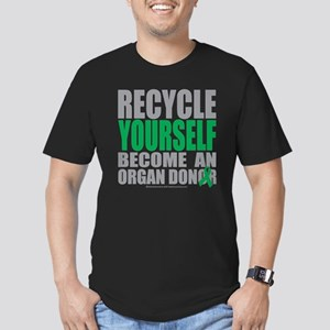 Recycle-Yourself-Organ Men's Fitted T-Shirt (dark)
