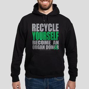 Recycle-Yourself-Organ-Donor Hoodie (dark)