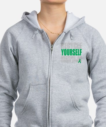 Recycle-Yourself-Organ-Donor-bl Zip Hoodie