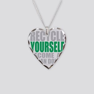 Recycle-Yourself-Organ-Donor- Necklace Heart Charm