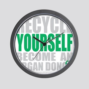 Recycle-Yourself-Organ-Donor-blk Wall Clock