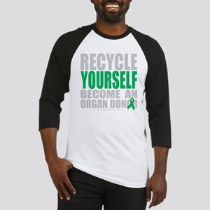 Recycle-Yourself-Organ-Donor-blk Baseball Jersey