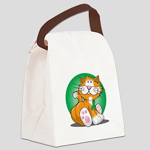 Organ-Donor-Cat-blk Canvas Lunch Bag