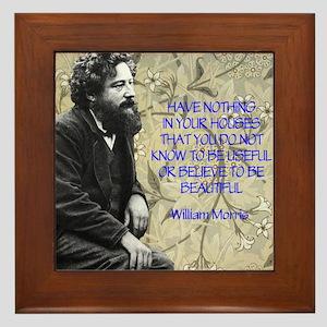 William Morris Quotation Framed Tile