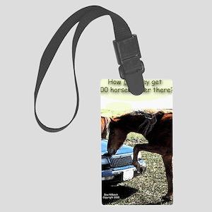 300 Horse Car Large Luggage Tag