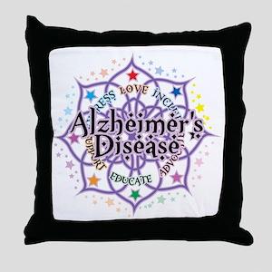 Alzheimers-Lotus Throw Pillow