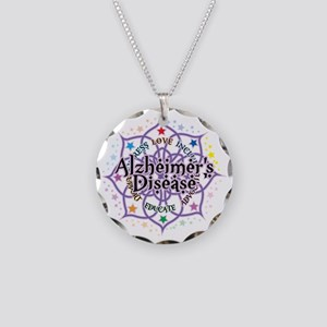 Alzheimers-Lotus Necklace Circle Charm