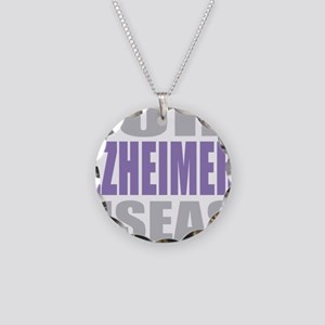 Cure-Alzheimers-2009-blk Necklace Circle Charm