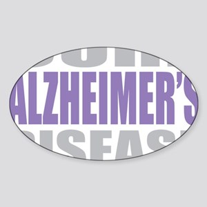 Cure-Alzheimers-2009-blk Sticker (Oval)