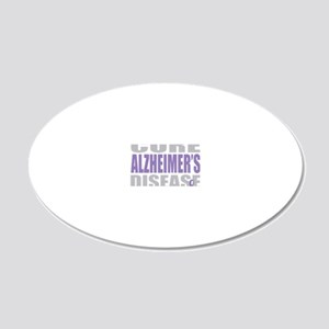 Cure-Alzheimers-2009-blk 20x12 Oval Wall Decal