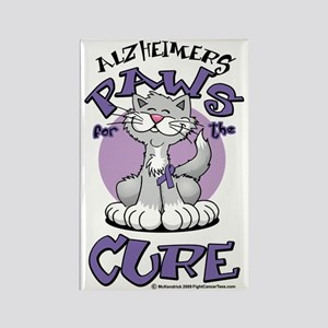 Paws-for-the-Cure-Cat-Alzheimers Rectangle Magnet