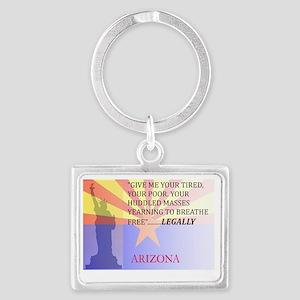 Arizona with Statue Of Liberty Landscape Keychain