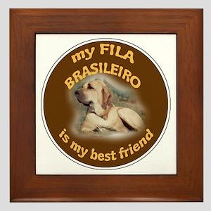fila best friend Framed Tile