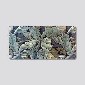 William Morris Acanthus Aluminum License Plate