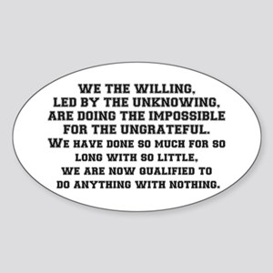 WE THE WILLING Sticker (Oval)
