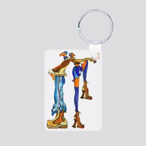CAFE_COUPLE Aluminum Photo Keychain