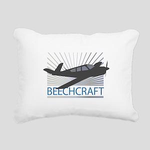 Aircraft Beechcraft Rectangular Canvas Pillow