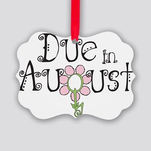 due_august_onwht Picture Ornament