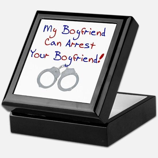 arrest boyfriend Keepsake Box