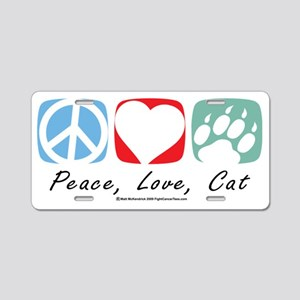 Peace-Love-Cat-2009 Aluminum License Plate