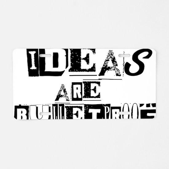 ideasbulletproof Aluminum License Plate