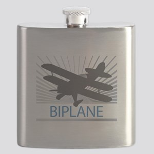 Aircraft Biplane Flask