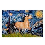 Starry Night Buckskin Postcards (Package of 8)