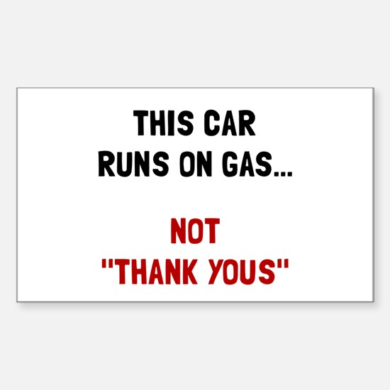 Car Runs Gas Decal