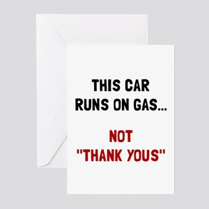 Car Runs Gas Greeting Cards