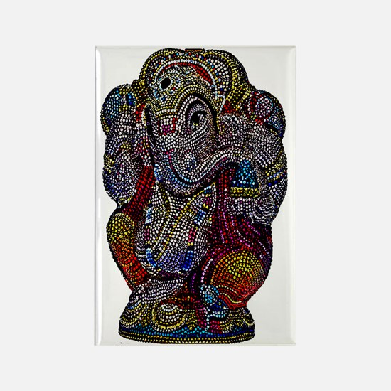 BEADED GANESH Rectangle Magnet