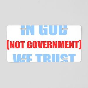 In-God-Not-Gov-(dark-shirt) Aluminum License Plate