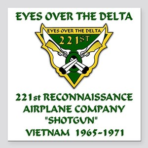 "Eyes-Over-The-Delta Square Car Magnet 3"" x 3"""