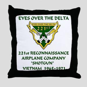 Eyes-Over-The-Delta Throw Pillow