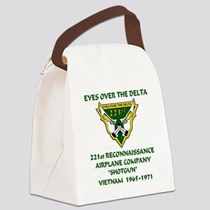 Eyes-Over-The-Delta Canvas Lunch Bag
