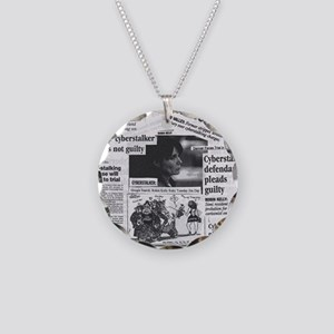 Cyberstalker Necklace Circle Charm