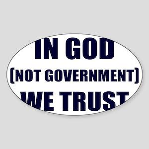 In-God-Not-Gov-(navy-ink) Sticker (Oval)