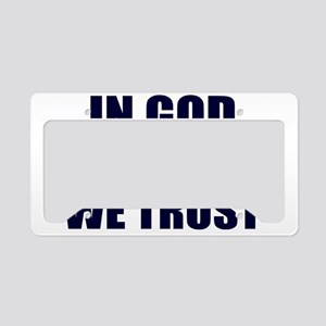 In-God-Not-Gov-(navy-ink) License Plate Holder