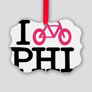 2-bike phl cafe press lg Picture Ornament