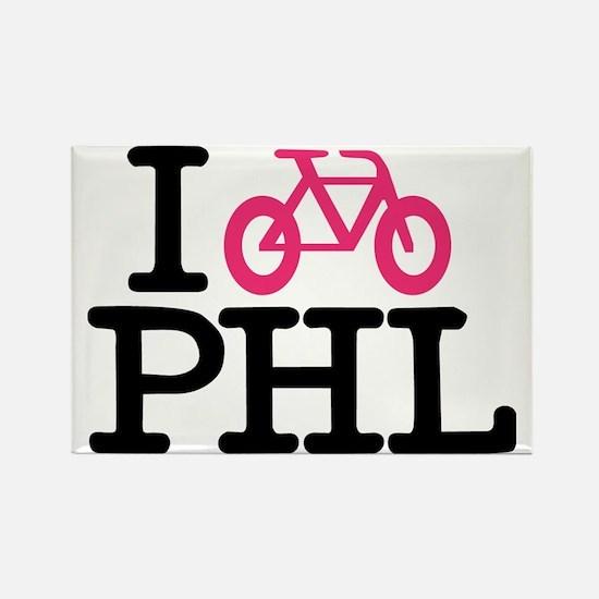 2-bike phl cafe press lg.eps Rectangle Magnet