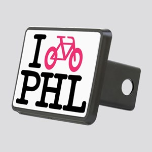 2-bike phl cafe press lg.e Rectangular Hitch Cover