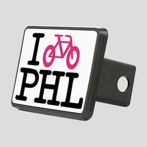 2-bike phl cafe press lg.e Rectangular Hitch Cover