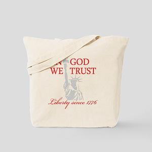 In-God-We-Trust-(Liberty)-black-shirt-(re Tote Bag