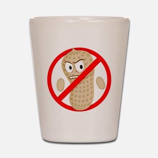 No Peanuts Food Allergy Button of Kids  Shot Glass
