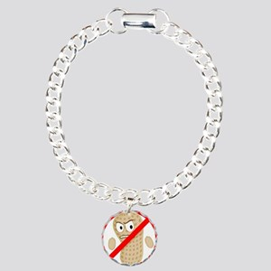 No Peanuts Food Allergy  Charm Bracelet, One Charm